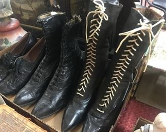 Victorian Ladies Boots and Shoes