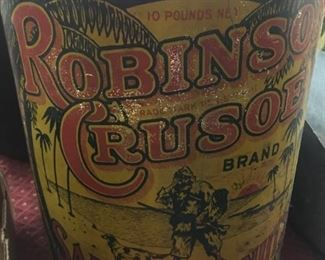 Old Robinson Crusoe Salted Peanuts Can