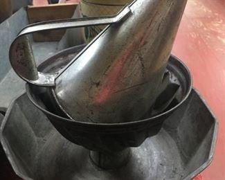 Tin Funnel/Old Pudding Mold