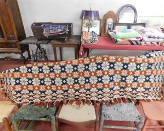 Old Coverlet with Fringe