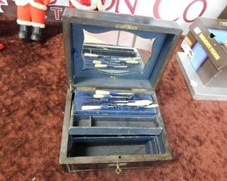 Victorian Grooming Box with Tools