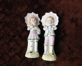 Bisque Boy and Girl Figures