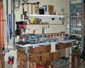 Hand tools, power tools, cables, cords, hardware