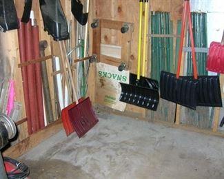 snow shovels,