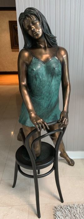 "38. ""Springtime"" by Bill Mack, Cast Bronze 2004 17/25 LIFE SIZE(61'')"