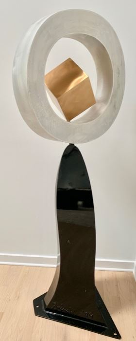 47. Metal Sculpture by Zaluski 1994 (74'' x 29'')