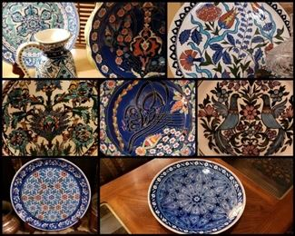 Seller removed (2) Turkish Plates - Top Left and Center