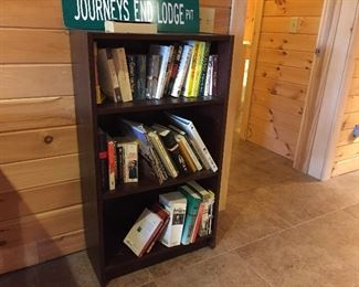 3 shelf wood book shelf