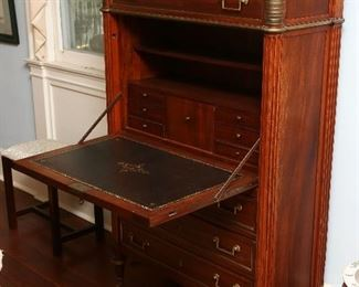 View of secretaire in open position.