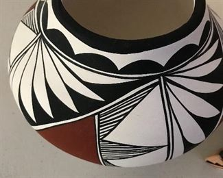 Acoma pottery wedding bowl S.Chino 1992