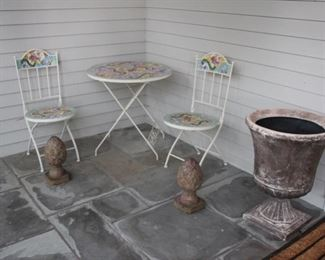 Mosaic 3 piece patio bistro set