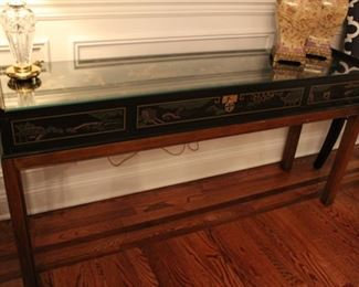 Chinoiserie decorated console table