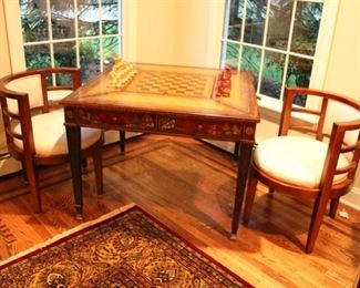 Maitland Smith game table & chairs
