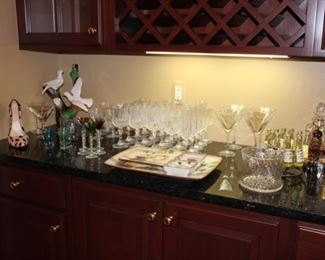 Barware, including wine fridge