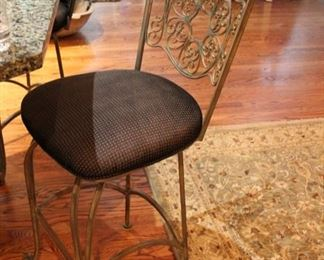 Set of four swivel counter stools