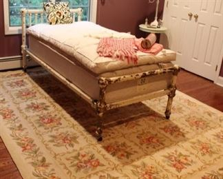Antique metal twin bed