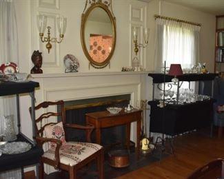 Armchair, Sofa Type Table, Glassware Lamp, Stemware