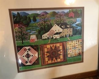 Many quilt scenes, prints