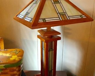 Mission style table lamp, newer
