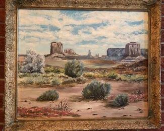 "Original desert scene signed ""Hope '62"" Local Trenton, MI  Artist"