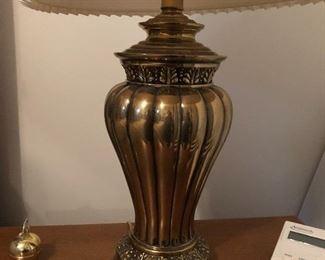 Many brass lamps