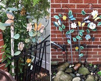 Matching butterfly garden decor