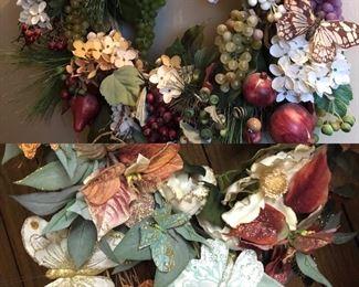 TONS of wreaths, silks, decorative garlands, flowers
