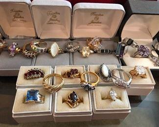 Sterling gemstone rings