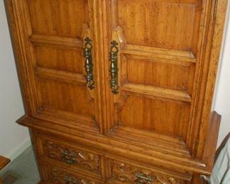 "Drexel 2 door, 5 drawer cabinet/dresser, 42""W x 20"" D x 56""H"