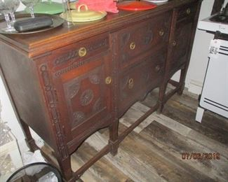 hand carved buffet