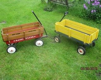 2 of the childs wagons