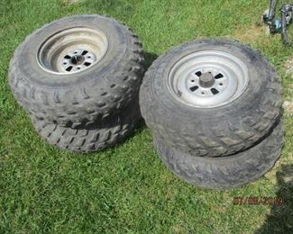 ATV tires 2 LT 24 x 9 11 and 2 AT 23 x 8 11