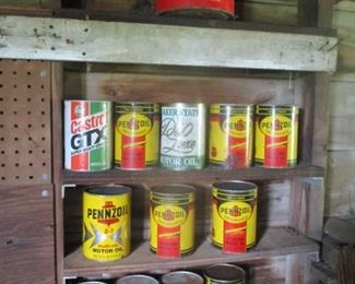 NOS full oil cans 2 cycle & regular