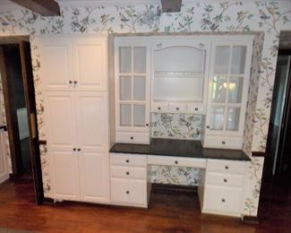 White Country Kitchen Cabinets Wolf Desk