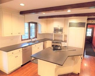 Cook County Demolition Sales inc Where We Sell you A Home Piece By Piece !  {http://www.demolitionsales.com/sales.htm}  CONTACT US IF YOU WOULD LIKE TO LOOK AT IT 847 795 9139  White Country Kitchen For Sale W/ Stainless Steel Appliances  Near Barrington ( Inverness ) 8 Ft Ceilings 12 ft x 14 Ft  White Country Kitchen For Sale With Stainless Steel Wolf Cooktop , Sub-Zero Refrigerator , Stainless Steel Wolf Wall Oven , Stainless Steel Bosch Dishwasher , Stainless Steel Garbage Compactor , Stainless Steel Microwave , Broan Down Draft Pop Up Vent , Granite Counter Tops , Island Sink Wall Counter 143 in. Microwave Wall Counter 78in Sub-Zero 36in.  Dinette Wall 56in wide To Soffit Top 83 Desk Wall 94 in Island 53 x 73  Sold As A Package $4200.00 obo  {http://www.demolitionsales.com/sales.htm}  ============================================================================= Cook County Demolition Sales inc Where We Sell you A Home Piece By Piece !  {http://www.demolitionsales.com/sales.htm}  CO
