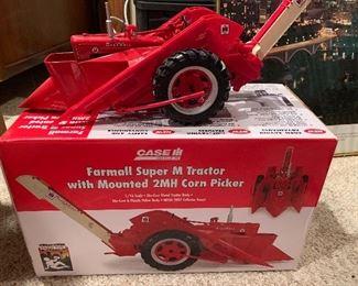 Farmall Super M Tractor with Mounted 2MH Corn Picker