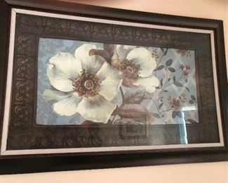 Framed picture of aggressive flowers