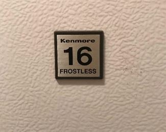 Kenmore Upright Freezer.... Frostless