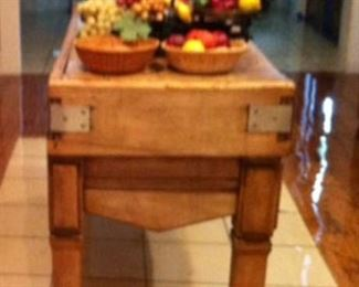 French butcher block, early 20th century