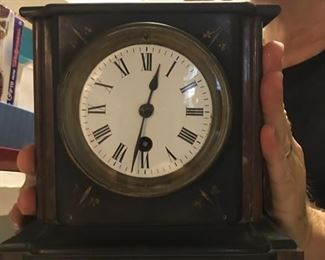 antique stone clock, working