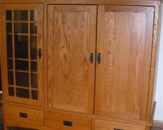 this beautiful cabinet made by the Amish