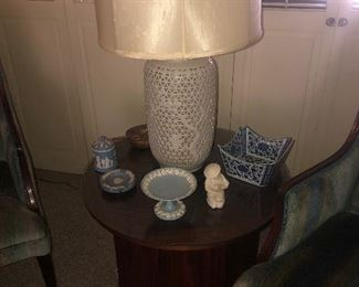 You may purchase now for $160 single end table with cabinet   Winner will be selected 6/13; You must be prepared to pay when you receive the call; Your bid must be above 50% of the original asking price