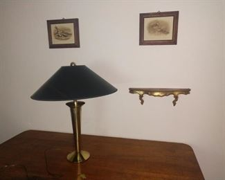 Retro looking brass lamp