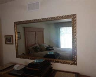 Very Large gold framed mirror!  BEAUTIFUL