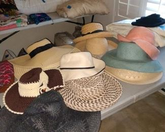 More hats ready to keep the sun away!