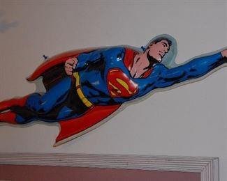 1971 molded plastic Superman store display! perfect condition, 36 inches long.