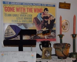 Lots of Gone with the Wind collectibles.
