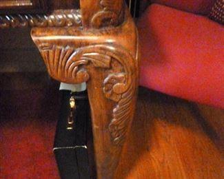 Desk ornate carving detail