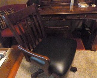 Matching desk chair and area rug