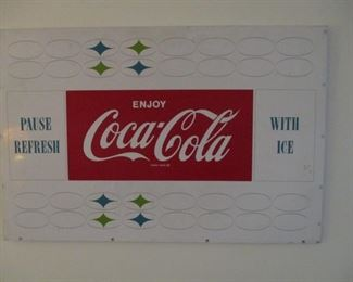 Original vintage Coke sign